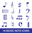 music note icon set eps10 vector image vector image