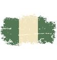 Nigerian grunge flag vector image vector image