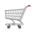 object shopping cart vector image