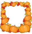 Pumpkins frame background full autumn border vector image vector image