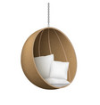 realistic 3d detailed wicker hanging chair vector image vector image