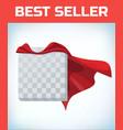 red cape super hero cloak superhero cover vector image vector image