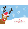 red nose deer Christmas vector image vector image