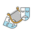 sad and happy theater masks vector image