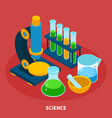 science isometric composition vector image vector image