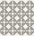 seamless geometric interlacing lines pattern vector image vector image