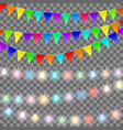 set of decorations vector image vector image