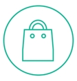 Shopping bag line icon vector image vector image