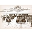 Solar power plant sketch vector image vector image