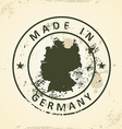 Stamp with map of Germany vector image