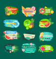 summer discount banners set vector image vector image