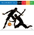 Summer Olympic igry volleyball silhouettes vector image vector image