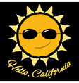 T shirt graphic quote Hello California vector image vector image