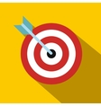 Target with dart flat icon vector image vector image