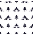 tent and tree seamless pattern silhouette vector image vector image