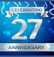 twenty seven years anniversary celebration design vector image vector image