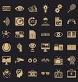 video film icons set simple style vector image