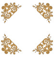 vintage baroque frame engraving scroll ornament vector image