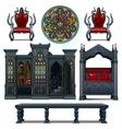 Vintage design furniture of the medieval house vector image