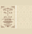 vintage save the date template layered vector image vector image