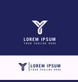 y letter logo minimalist logo line logo vector image vector image