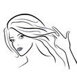 Young beautiful women vector image vector image