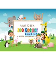 Zoo Keeper for a day vector image vector image