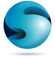 Abstract 3d sphere alphabet S vector image