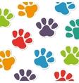 foot print animal pattern vector image