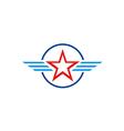 star america emblem wing logo vector image