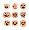 halloween pumpkins set 2 vector image