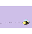 Bee flight background vector image