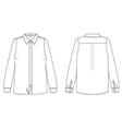 woman long sleeved shirt vector image