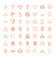 49 coat icons vector image vector image