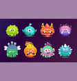 a set cute and funny monsters with different vector image