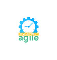 agile icon methodology development scrum vector image