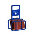 airport metal cage icon vector image