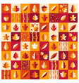 autumn leaves pattern background vector image vector image