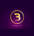 b letter gold logo design modern b icon with vector image vector image
