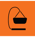 Baby hanged cradle ico vector image vector image