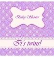 Baby shower flake background twins vector image vector image