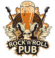 banner for rock and roll music pub vector image