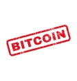 Bitcoin Text Rubber Stamp vector image vector image