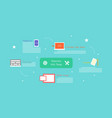 business blogging commercial blog posting logo vector image vector image