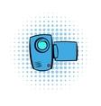 Camcorder comics icon vector image vector image