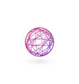 clew ball chaos linear logo template stock