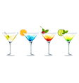 Club cocktails vector image