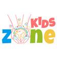 concept of child development kids zone vector image vector image