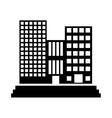 contour buildings and city scene line sticker vector image