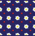 daisies and ladybugs on blue vector image vector image